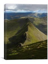Striding Edge, Helvellyn, Lake District, Canvas Print