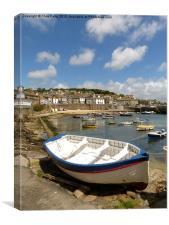 Mousehole, Cornwall, Harbour, Canvas Print