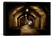 Chee Tor No 1 Tunnel, Derbyshire, Monsal Trail, Canvas Print