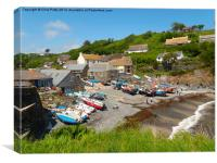 Cadgwith Cove, Cornwall, Beach, Canvas Print