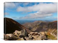 Lairig Ghru, Cairngorms National Park, Scotland, Canvas Print
