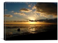 Thorpe Bay, Essex, Sunset, Canvas Print