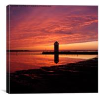 Brightlingsea, Essex, Sunset, Canvas Print