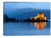 Eilean Donan Castle, Night, Canvas Print