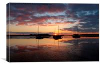 Alresford Creek, Essex, Sunset, Canvas Print