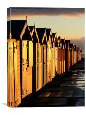 Brightlingsea, Essex, Beach Huts, Canvas Print