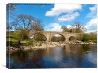 Devil`s Bridge, Kirkby Lonsdale, Cumbria, Canvas Print