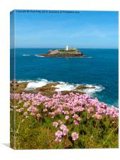 Godrevy Lighthouse, Cornwall , Canvas Print