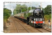 Tornado, The Walton Pier Express, Canvas Print