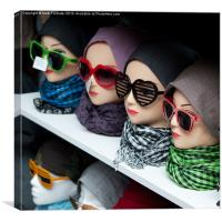 Scarfs and Sunglasses, Canvas Print