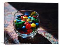 glass of candy, Canvas Print