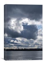turbulent skies, Canvas Print