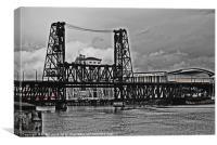 steel bridge, Canvas Print