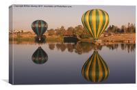 Hot Air Balloon Reflection, Canvas Print