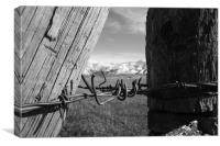 Wyoming Fence, Canvas Print