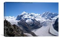 A Swiss Glacier, Canvas Print