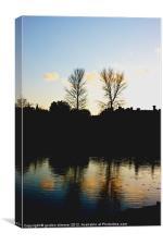 Sunset over Beaulieu hampshire, Canvas Print
