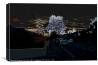 Surreal urban sunset in Bournemouth, Canvas Print