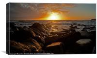 A vivid kimmeridge sunset, Canvas Print