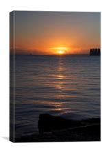 Sunrise from Calshot, Canvas Print