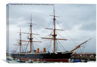 HMS Warrior at Portsmouth, Canvas Print