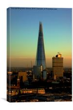 The Shard as the sun goes down