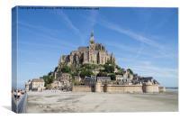 Le Mont Saint Michel , Canvas Print