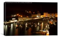 A View of Tenby Harbour at Night