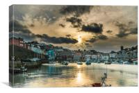 Brixham Harbour with a Setting Sun