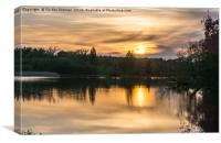 Sunset Over Mill Pond Beaulieu, Canvas Print
