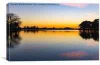 Orange Glow Over Hatchet Pond, Canvas Print