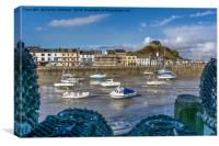 Ilfracombe Harbour at Low Tide, Canvas Print