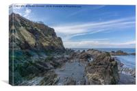 Rocky Outcrops at Ilfracombe, Canvas Print