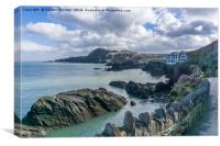 Rocks on Coast near Ilfracombe Harbour, Canvas Print