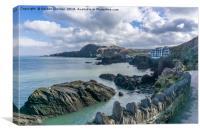 Rocks on Coast near Ilfracombe Harbour, Canvas Print