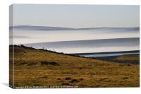 Reservoir on Yorkshire Moors, Canvas Print