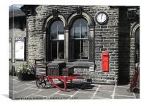 Oakworth Station, Canvas Print