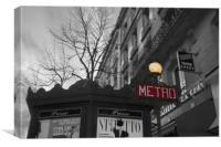 Metro, Canvas Print
