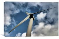 Wind Turbine HDR, Canvas Print