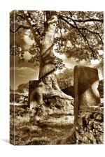 Gateposts HDR, Canvas Print