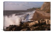 West Bay Cliffs, Canvas Print