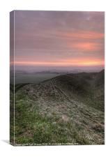 Sunrise over Maiden Castle, Canvas Print