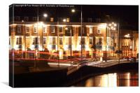 Weymouth B & B's at night, Canvas Print