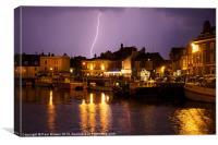 Lightning Weymouth, Canvas Print