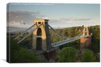 Balloons over Clifton Suspension Bridge , Canvas Print