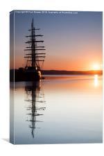 Tenacious Tall Ship Weymouth, Canvas Print