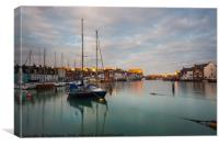 Weymouth with a touch of sun, Canvas Print