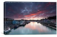 Weymouth at Sunrise, Canvas Print