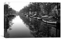 Amsterdam in B&W, Canvas Print