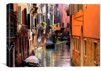 Venice in October, Canvas Print